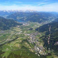 Flugwegposition um 11:40:37: Aufgenommen in der Nähe von Gemeinde Kaprun, Kaprun, Österreich in 2358 Meter
