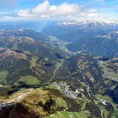 Flugwegposition um 12:22:38: Aufgenommen in der Nähe von Gemeinde Gerlos, 6281 Gerlos, Österreich in 3221 Meter