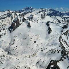 Flugwegposition um 13:08:49: Aufgenommen in der Nähe von Gemeinde Kaprun, Kaprun, Österreich in 3164 Meter