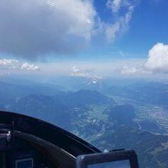 Flugwegposition um 10:56:27: Aufgenommen in der Nähe von Rottenmann, Österreich in 2869 Meter