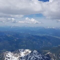 Flugwegposition um 11:55:14: Aufgenommen in der Nähe von Gemeinde Tweng, Tweng, Österreich in 3444 Meter
