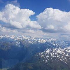 Flugwegposition um 13:52:02: Aufgenommen in der Nähe von Mittersill, Österreich in 2976 Meter