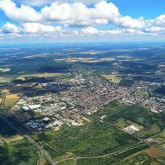 Flugwegposition um 13:20:19: Aufgenommen in der Nähe von Kreis Nagykanizsa, Ungarn in 1502 Meter