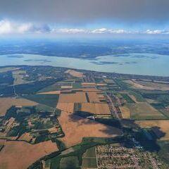 Flugwegposition um 14:06:23: Aufgenommen in der Nähe von Kreis Marcali, Ungarn in 1836 Meter