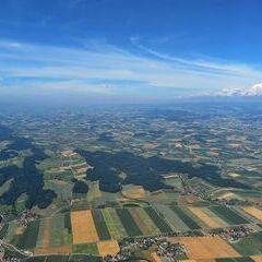 Flugwegposition um 09:23:55: Aufgenommen in der Nähe von Gemeinde Ober-Grafendorf, 3200 Ober-Grafendorf, Österreich in 1408 Meter