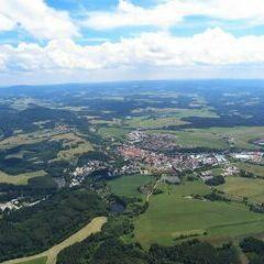 Flugwegposition um 11:11:02: Aufgenommen in der Nähe von Okres Český Krumlov, Tschechien in 1310 Meter