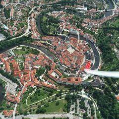 Flugwegposition um 11:28:25: Aufgenommen in der Nähe von Okres Český Krumlov, Tschechien in 1210 Meter