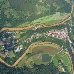 Flugwegposition um 13:06:28: Aufgenommen in der Nähe von Gemeinde Drosendorf-Zissersdorf, Österreich in 1559 Meter
