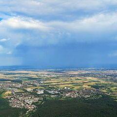 Flugwegposition um 15:43:00: Aufgenommen in der Nähe von Gemeinde Berndorf, 2560, Österreich in 992 Meter