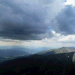Flugwegposition um 11:43:07: Aufgenommen in der Nähe von Oberwölz Umgebung, Österreich in 2501 Meter