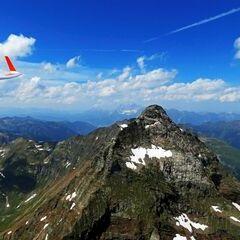 Flugwegposition um 12:38:42: Aufgenommen in der Nähe von Gemeinde Göriach, 5574, Österreich in 2782 Meter
