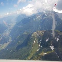 Flugwegposition um 11:51:34: Aufgenommen in der Nähe von Gemeinde Obervellach, 9821, Österreich in 3262 Meter