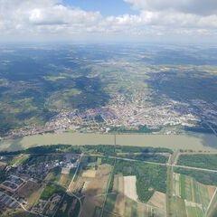 Flugwegposition um 12:34:08: Aufgenommen in der Nähe von Gemeinde Furth bei Göttweig, 3511 Furth bei Göttweig, Österreich in 1647 Meter