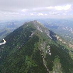 Flugwegposition um 11:52:17: Aufgenommen in der Nähe von Gaming, Österreich in 1933 Meter