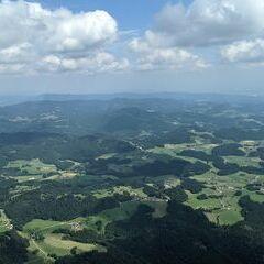 Flugwegposition um 12:38:13: Aufgenommen in der Nähe von Gemeinde Pabneukirchen, Österreich in 1648 Meter