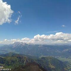 Flugwegposition um 13:17:29: Aufgenommen in der Nähe von Pruggern, Österreich in 2757 Meter