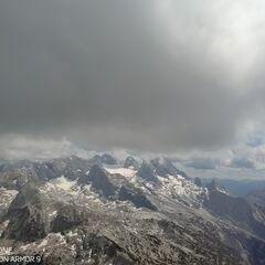 Flugwegposition um 12:09:39: Aufgenommen in der Nähe von Gemeinde Hallstatt, Hallstatt, Österreich in 2547 Meter