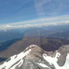 Flugwegposition um 11:42:59: Aufgenommen in der Nähe von Gemeinde Werfen, Österreich in 3113 Meter