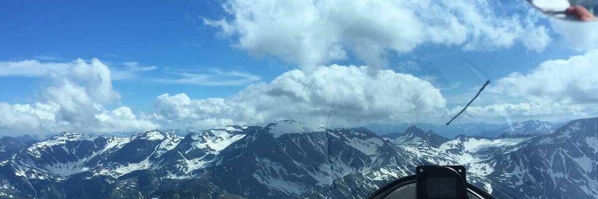 Flugwegposition um 14:08:08: Aufgenommen in der Nähe von Gemeinde Bad Hofgastein, 5630 Bad Hofgastein, Österreich in 3034 Meter