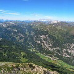 Flugwegposition um 12:12:13: Aufgenommen in der Nähe von Gemeinde Tweng, Tweng, Österreich in 2593 Meter