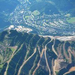 Flugwegposition um 15:38:45: Aufgenommen in der Nähe von Gemeinde Vordernberg, 8794, Österreich in 2294 Meter