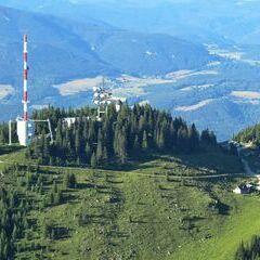 Flugwegposition um 16:17:55: Aufgenommen in der Nähe von Gemeinde Schottwien, Österreich in 1624 Meter