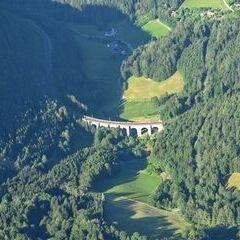 Flugwegposition um 16:15:46: Aufgenommen in der Nähe von Gemeinde Semmering, Österreich in 1756 Meter