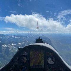 Flugwegposition um 13:41:17: Aufgenommen in der Nähe von Gössenberg, Österreich in 2949 Meter