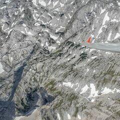 Flugwegposition um 12:37:37: Aufgenommen in der Nähe von Gemeinde Hinterstoder, Hinterstoder, Österreich in 2749 Meter