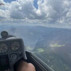 Flugwegposition um 12:24:51: Aufgenommen in der Nähe von Kapellen, Österreich in 1708 Meter