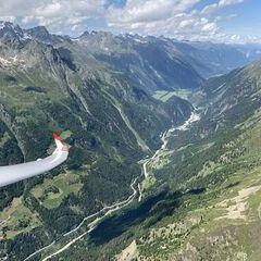 Flugwegposition um 11:40:26: Aufgenommen in der Nähe von Gemeinde Sölden, Österreich in 2675 Meter