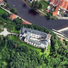 Flugwegposition um 11:45:20: Aufgenommen in der Nähe von Okres Český Krumlov, Tschechien in 1469 Meter