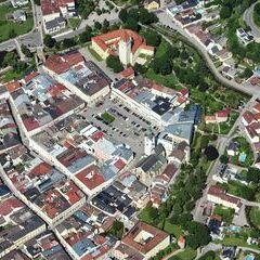 Flugwegposition um 13:38:15: Aufgenommen in der Nähe von Lasberg, Österreich in 1419 Meter