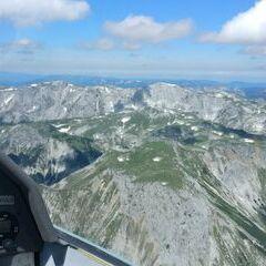 Flugwegposition um 10:00:24: Aufgenommen in der Nähe von Gemeinde Thörl, Österreich in 2350 Meter