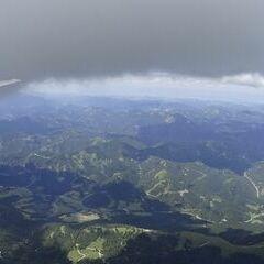 Flugwegposition um 12:25:45: Aufgenommen in der Nähe von Gußwerk, Österreich in 2514 Meter