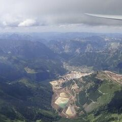 Flugwegposition um 13:02:24: Aufgenommen in der Nähe von Gemeinde Wald am Schoberpaß, 8781, Österreich in 2549 Meter