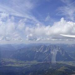 Flugwegposition um 13:47:44: Aufgenommen in der Nähe von Donnersbach, Österreich in 2458 Meter