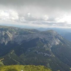 Flugwegposition um 09:16:00: Aufgenommen in der Nähe von Gemeinde Turnau, Österreich in 770 Meter
