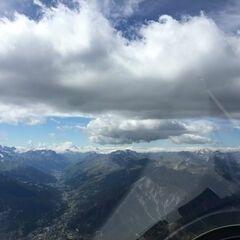 Flugwegposition um 14:20:44: Aufgenommen in der Nähe von Arrondissement de Briançon, Frankreich in 3354 Meter