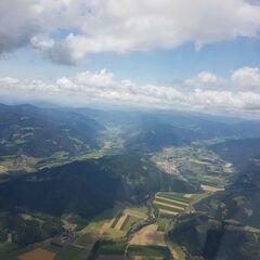 Flugwegposition um 11:25:29: Aufgenommen in der Nähe von Gemeinde Fohnsdorf, Fohnsdorf, Österreich in 2111 Meter