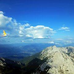 Flugwegposition um 06:17:02: Aufgenommen in der Nähe von Gemeinde St. Jakob im Rosental, Österreich in 2299 Meter