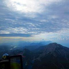 Flugwegposition um 06:38:35: Aufgenommen in der Nähe von Gemeinde St. Jakob im Rosental, Österreich in 2165 Meter