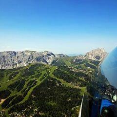 Flugwegposition um 09:07:38: Aufgenommen in der Nähe von Gemeinde Hermagor-Pressegger See, Österreich in 1866 Meter