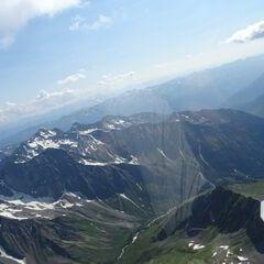 Flugwegposition um 14:10:11: Aufgenommen in der Nähe von Gemeinde Heiligenblut, 9844, Österreich in 3655 Meter
