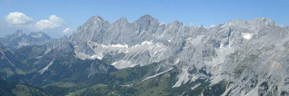 Flugwegposition um 12:06:30: Aufgenommen in der Nähe von Gemeinde Ramsau am Dachstein, 8972, Österreich in 2198 Meter