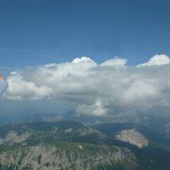 Flugwegposition um 14:05:27: Aufgenommen in der Nähe von Kapellen, Österreich in 2613 Meter