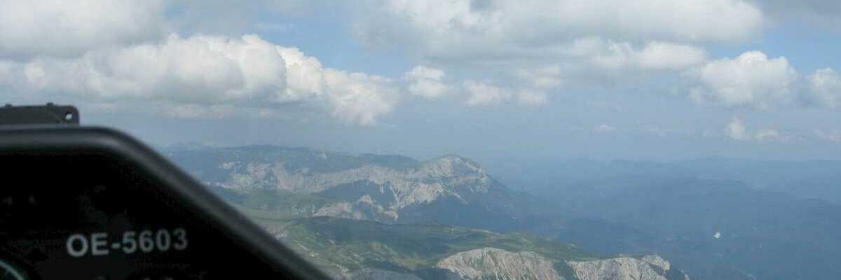 Flugwegposition um 13:55:24: Aufgenommen in der Nähe von Gemeinde Neuberg an der Mürz, 8692, Österreich in 2503 Meter
