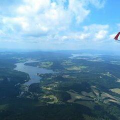 Flugwegposition um 11:31:33: Aufgenommen in der Nähe von Okres Český Krumlov, Tschechien in 1430 Meter