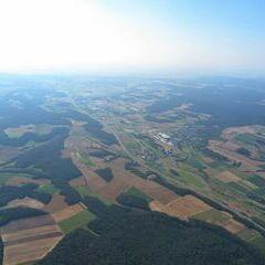 Flugwegposition um 15:24:29: Aufgenommen in der Nähe von Bamberg, Deutschland in 1549 Meter