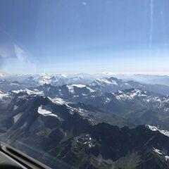 Flugwegposition um 14:45:23: Aufgenommen in der Nähe von 11010 Valsavarenche, Aostatal, Italien in 4828 Meter